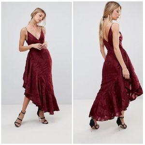 Ember Ruffle Midi Dress
